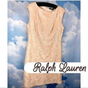 Ralph Lauren Sequin Cocktail Dress Comfort Stretch